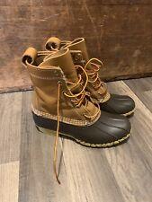 """L.L. Bean 8"""" Duck Boots BROWN/TAN Women's 6, fits like 7.5-8"""