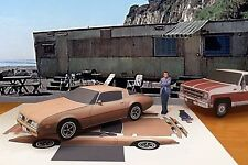 Papercraft  EZU-build 1977 Pontiac Firebird Esprit Rockford Files T.V. Paper Car