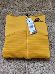 ADIDAS Z.N.E. COLD.RDY ATHLETICS HOODIE Legacy Gold  Size XL FT6774