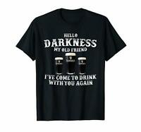 Hello Darkness My Old Friend Guiness Beer Black T-shirt S-6XL