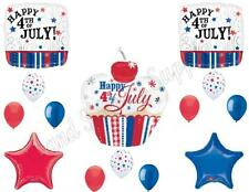 CUPCAKE 4th of July Balloons Decoration Supplies Picnic Cookout Fireworks Fourth