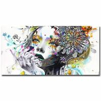 Beautiful Flower Girl Painting Canvas Wall Art Poster Picture For Bedroom Decor
