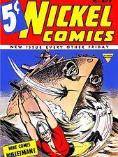 Stampa POSTER COMICS nichel bulletman BARCA GUN PRIMA EDIZIONE COPERTINA USA nofl0583
