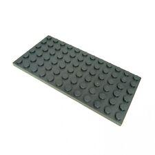1x Lego System Bau Platte neu-dunkel grau 6 x 12 10182 7939 5887 10211 4184 3028