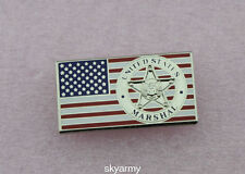 US American Marshal badge pin on Flag Lapel Pin