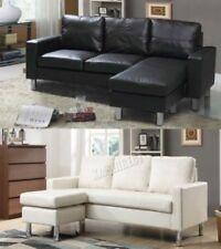 Canapés noirs moderne en cuir pour la maison
