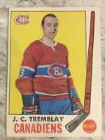 1969 70 OPC O PEE CHEE #5 J C TREMBLAY EX+ COND MONTREAL CANADIENS HOCKEY CARD