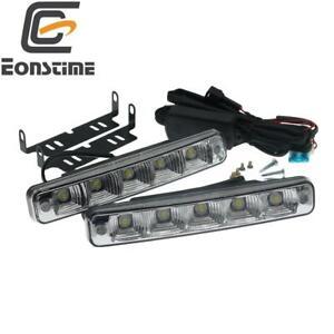2pcs 12V/24V 10W 5Led 3Wires Car Lights Daytime Running Light Front Fog Lamp E4