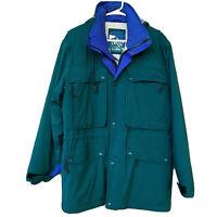 Vintage LL Bean Gore-Tex Jacket Parka Mens Small Green Nylon Hood