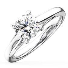 0.50CT Round Diamonds Solitaire Engagement Ring in Platinum
