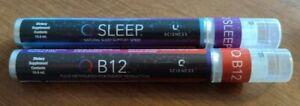 Q Sciences Q Sleep & B-12 Energy SPRAY dietary Supplement Exp 2/23