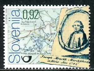 704 - SLOVENIA 2009 - Jozef Mrak -  Slovene Cartographer - Maps - MNH Set