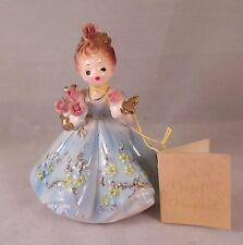 Josef Originals Figurine IT'S A WONDERFUL WORLD BECAUSE THERE ARE ROSES w/ Tag
