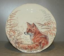 NEW Dessert Plate Fox , Sologne Pattern  From GIEN