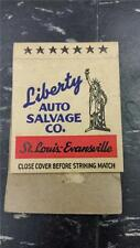 "RARE Vintage ""LIBERTY AUTO SALVAGE CO"" ST LOUIS, MO * MATCH BOOK ADVERTISING"
