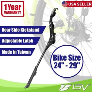"BV Bike Kickstand Rear Alloy Simple Adjustable Road MTB Side Kick Stand 24""-29"""