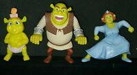 SHREK  McDonalds Happy Meal Toy  Shrek Figures Lot of 3 No Sound