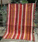 Qashqai jajim woven wool tribal nomad cover