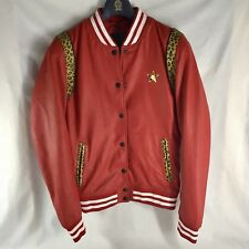 GOOSECRAFT SHEEPSKIN LEATHER RIGA BOMBER JACKET RED XS (EUR S) NWT