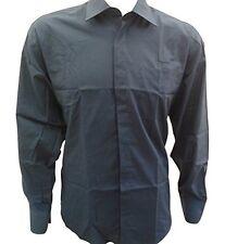"""Homme Dimensions Classique Gris À Manches Longues Point col chemise poignets boutonnés 16"""""""