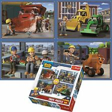 Trefl Bob The Builder 4 in 1 70+54+48+35 Piece Jigsaw Puzzle For Kids Busy Day