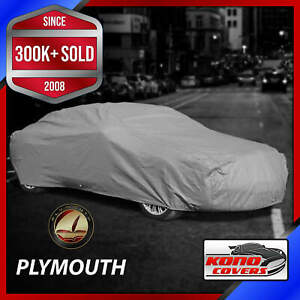 PLYMOUTH [OUTDOOR] CAR COVER ✅ Weatherproof ✅ 100% Full Warranty ✅ CUSTOM ✅ FIT