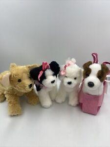 Lot of  4 Douglas Plush Dogs Puppies