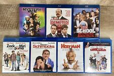 Lot Of 7 Blu-ray Comedy Movies: Old School, Holy Man, Mystery Men, Demoted Vguc
