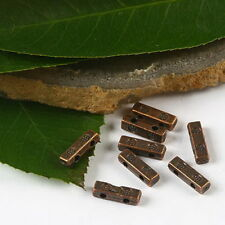 60pcs copper-tone 2 holes bar spacer beads h2364