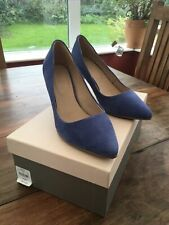 Jacques Vert Blue Suede Leather Court Shoes 40