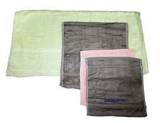 BAMBOO 4 piece TOWEL SET in CARRY CASE - BATH - HAND and 2 FACE TOWELS