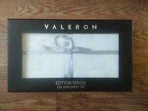 Valeron California King Cotton Tencel Blend Luxury Sheet Set in Ivory #170