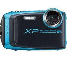 FUJIFILM XP120 Tough Compact Camera Black & Sky Blue