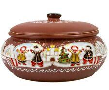 Baking Dish Stewing Stoneware Clay Cooking Pot Tureen Makitra Winter Christmas
