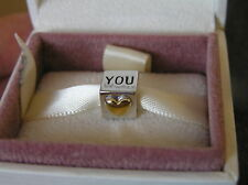 NEW S925 Sterling Solid Silver & Gold I Love You Charm Pandora Box Option