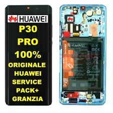 ORIGINALE DISPLAY LCD TOUCH + BATTERIA PER HUAWEI P30 PRO BREATHING CRYSTAL
