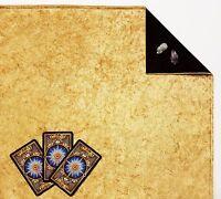 """Gold Velvet Lined Tarot Cloth or Altar Cloth 18""""x20"""" Rune or Spread SPClo SPVel"""