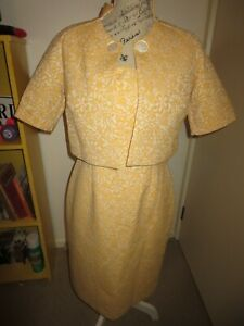 LISA BARRON, STUNNING VINTAGE LOOK 50s DRESS JACKET SET  SIZE 12/10