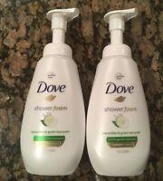 2 - Dove Pump Shower Foam Cucumber & Green Tea Scent Body Wash, 13.5 oz. ea.