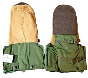 Military Issue Extreme Cold Weather Arctic Mittens With Nylon Liners (LARGE)