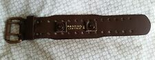 Vintage Rancho leather 18mm 11/16'' brown watch strap double buckle, large 4.5cm