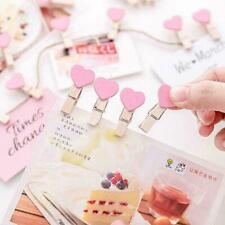 Photo Paper Clip Mini Wooden Wedding Decor Clip Crafts T8N2 Heart Love Pegs X7H6