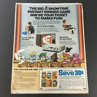 VTG 1982 General Mill's Trix, Cocoa Puffs, Lucky Charms Cereals Print Ad Coupon