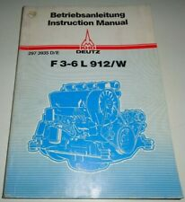 KHD Deutz F3-6L 912/W Engine Operators Instruction Manual F3L F4L F5L F6L 912