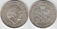 Gertbrolen MONACO 100 Francs Argent  40 Ans du Règne de  Rainier III 1989 N° 1