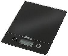 5YR Guarantee Russell Hobbs 5kg Digital Tab Scale Kitchen Parcel Black Glass