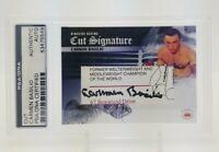 Carmen Basilio Cut Auto Signature Element Authentics Boxing Legend Card PSA Auth