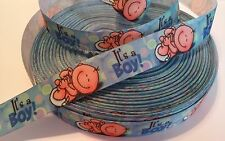 "Baby Boy inspired 7/8"" Grosgrain Ribbon - By The Yard - USA Seller"
