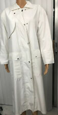 Vtg Evan-Picone Trench Coat White  Double Breasted  Water Repellant Size M.    A