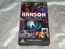 Hanson Tulsa Tokyo & The Middle of Nowhere 1997 RARE as VHS Video